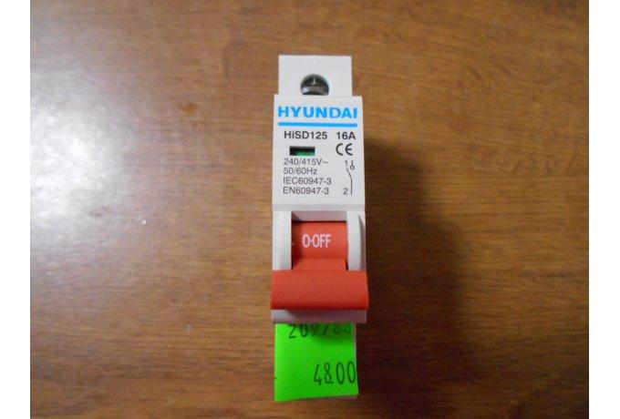 Vypínač HiSD 125,1P,16A