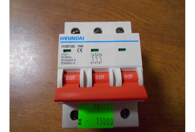 Vypínač HiSD 125,3P,16A