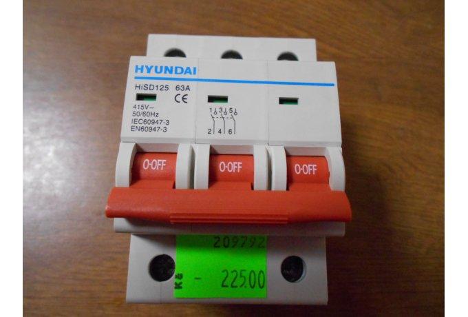 Vypínač HiSD 125,3P,63A