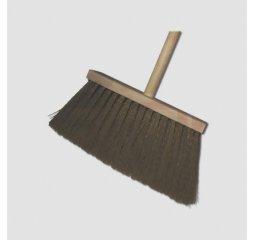 Koště úklid.s holí dřev.hněd.vlas 09-802