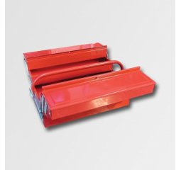 Kufr na nářadí kovový 404x200x150mm, 5 přihrádek