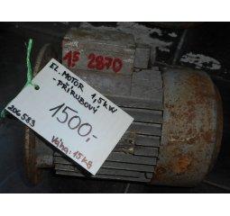 Elektromotor - 1,5 kW, 2870 otáček, přírubový