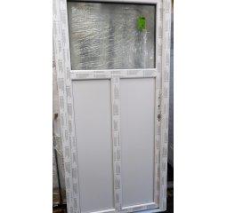 Vchodové dveře š.980/v.2080 pravé, bílá/bílá - sklo 1/3, členěné