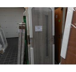Dveře 70P s úzkým proužkem skla - dekor Japonský Dub šedý