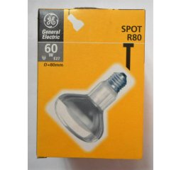 žárovka E27, Spot R80