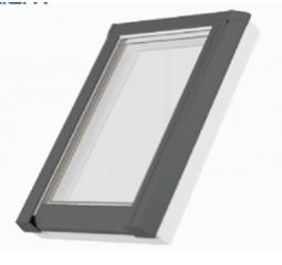 Střešní okno plastové š.780/v.1400, bílá/šedá