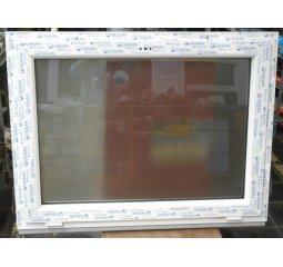 Okno plastové š.1200/v.900, bílá/bílá, výklopné - mléčné sklo