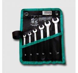 Sada klíčů očkopl. 6-17 mm 6 dílů chrom-obal