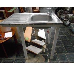 Dřezový stůl + baterie + sifon