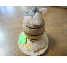 Dekorace - soudek s kamínky