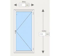 Vchodové dveře š.970 x v 2100, pravé, bílá/zlatý dub