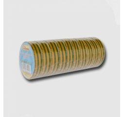 Páska izolačních PVC 19mmx10m žluto/zelená bal/10ks (cena za 1ks)