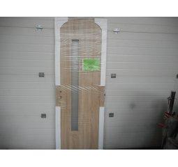 Dveře 60P s úzkým proužkem skla - dekor Dub Sonoma