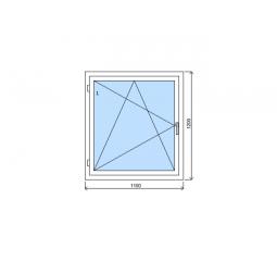 Okno plastové š.1100/v.1200 bílá/bílá