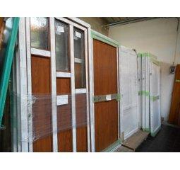 Vchodové dveře plastové z balkonového křídla - nové - dekor bílá/bílá, bílá/zlatý dub