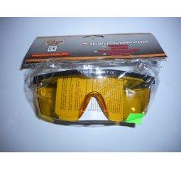 Brýle pracovní, ochranné-žluté