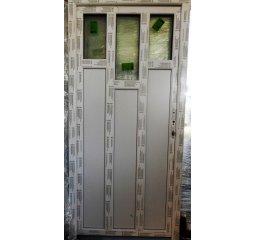 Vchodové dveře š.980/v.2080 pravé, bílá/bílá - 3 krátká skla